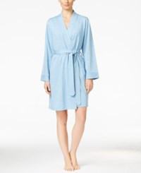 Charter Club Lightweight French Terry Robe Only At Macy's Blue