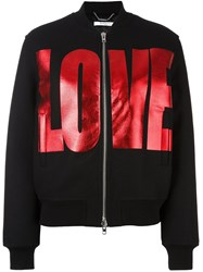 Givenchy Love Print Bomber Jacket Black