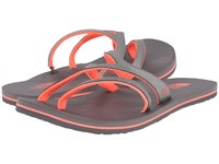 The North Face Base Camp Plus Asym Plum Kitten Grey Tropical Coral Women's Sandals Gray