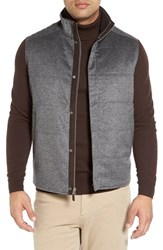 Peter Millar Men's Greenwich Wool And Cashmere Quilted Vest Charcoal