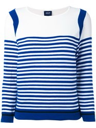 Armani Jeans Striped Top Women Cotton Polyamide Spandex Elastane 40 Blue