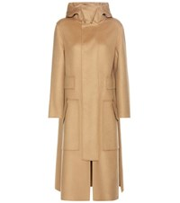 Valentino Virgin Wool And Cashmere Coat Brown