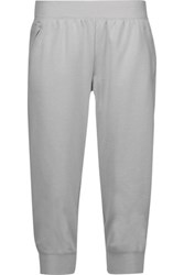 Yummie Tummie By Heather Thomson Cropped Stretch Jersey Pants Light Gray