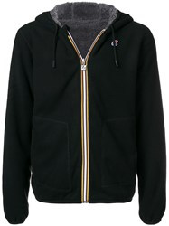 K Way Short Hooded Jacket Black