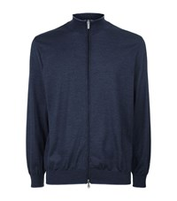 Paul And Shark Cashmere Silk Zip Jumper Male Navy