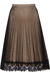 Christopher Kane Lace Trimmed Pleated Tulle Skirt