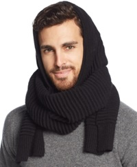 Calvin Klein Hooded Scarf Black