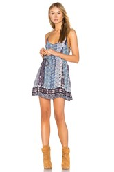 Gypsy 05 Spaghetti Strap Mini Dress Blue