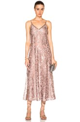 Kate Sylvester Claire Slip Dress In Pink Neutrals Metallics