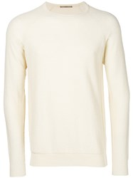Nuur Classic Long Sleeve Sweater Nude And Neutrals