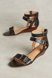 Anthropologie Seychelles Tigre Wedge Sandals Black