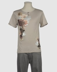 Ermanno Scervino Scervino Street Topwear Short Sleeve T Shirts Men Dove Grey
