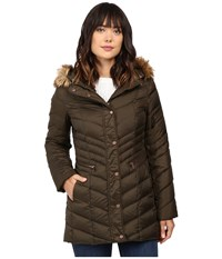 Marc New York Renee 30 Chevron Down Coat Dark Olive Women's Coat