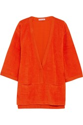 Orlebar Brown Alda Cotton Terry Coverup Orange