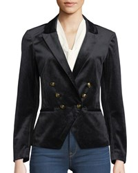 Cupcakes And Cashmere Belisma Velveteen Double Breasted Blazer Black