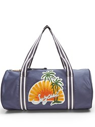 See By Chloe Sunset Embroidered Satin Bag Navy Multi