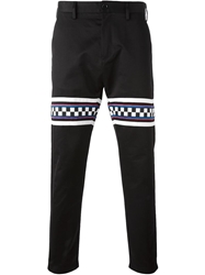 Love Moschino Checkered Panel Trousers