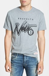 Men's Mitchell And Ness 'Brooklyn Nets Script' Tailored Fit Graphic T Shirt