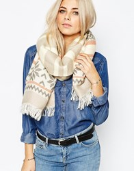 Oasis Fairsle Stripe Scarf Multi