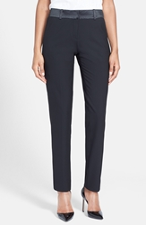 After Six Stretch Wool Tuxedo Pants Black