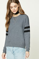 Forever 21 Striped Dropped Sleeve Sweater