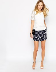 Oasis Brush Stroke Floral Mini Skirt Multi