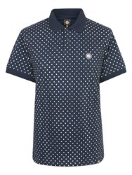 Pretty Green Men's Irwin Polka Dot Polo Navy