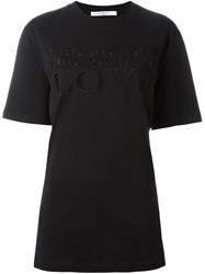 Givenchy I Believe In The Power Of Love T Shirt Black