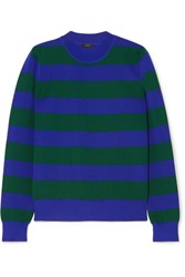 Joseph Striped Knitted Sweater Navy Gbp
