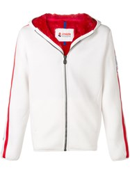 Invicta Side Stripe Hooded Jacket White