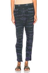 Raquel Allegra Easy Pant In Green Blue Ombre And Tie Dye
