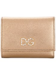 Dolce And Gabbana Crystal Dg Wallet Gold