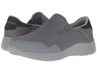 Skechers Burst Just In Time Charcoal Men's Lace Up Casual Shoes Gray