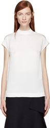 Stella Mccartney White Cap Sleeve Blouse