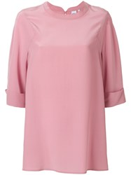 Aspesi Short Sleeve Blouse Pink And Purple