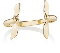 Jennifer Fisher Women's Double Ribbon Cuff Gold