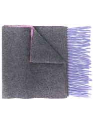 N.Peal Double Face Cashmere Scarf Grey