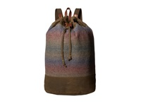 Pendleton Timberline Twill Duffel Backpack Yakima Camp Stripe Backpack Bags Brown
