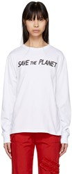 Ashley Williams Ssense Exclusive White Save The Planet T Shirt