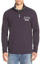 Men's Big And Tall Tommy Bahama 'Ben And Terry Seattle Seahawks' Half Zip Pullover Sweatshirt