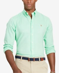Polo Ralph Lauren Men's Men's Slim Fit Oxford Long Sleeve Shirt Lime Green