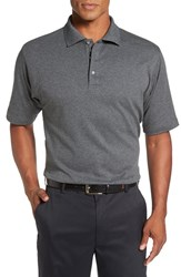 Bobby Jones Men's Solid Pima Cotton Jersey Polo Charcoal Heather