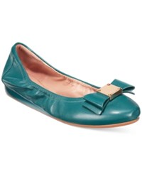 Cole Haan Tali Bow Ballet Flats Women's Shoes Turquoise