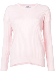 Courreges Rib Knit Sweater Pink And Purple