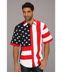 Scully Patriot S S Shirt Red Red Men's Short Sleeve Button Up