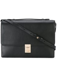 Paul Smith Red Detail Shoulder Bag Women Calf Leather One Size Black