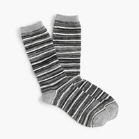 J.Crew Striped Marled Trouser Socks