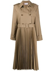 Red Valentino Pleated Trench Coat 60