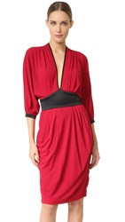 Ungaro Short Sleeve Dress Red
