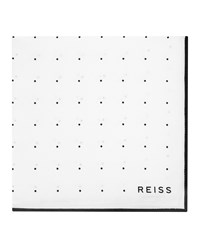 Reiss Planet Mens Silk Twill Pocket Square In White